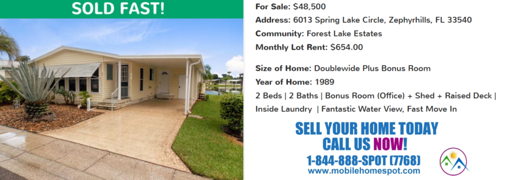 Mobile Home Spot Sold Mobile / Manufactured Homes Archive
